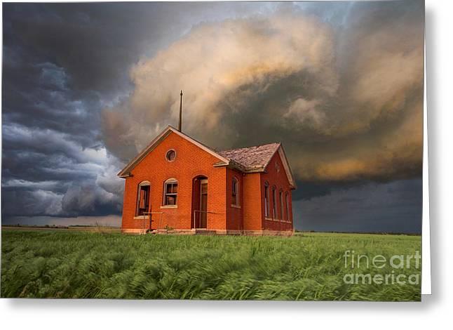 Thunderous Plains Greeting Card by Jill Van Doren Rolo