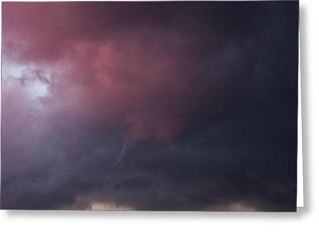 Maine Beach Greeting Cards - Thunderstorm At Sunset Greeting Card by Lezlie Faunce