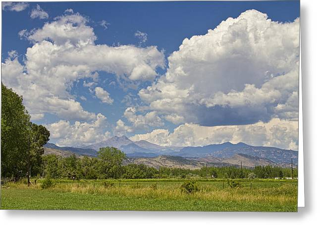 """landscape Photography Prints"" Greeting Cards - Thunderstorm Clouds Boiling Over The Colorado Rocky Mountains Greeting Card by James BO  Insogna"