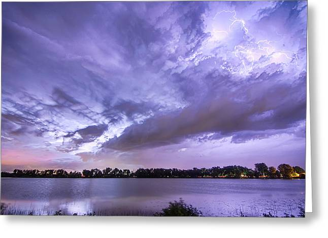 Storm Prints Greeting Cards - Thunderstorm Combustion  Greeting Card by James BO  Insogna