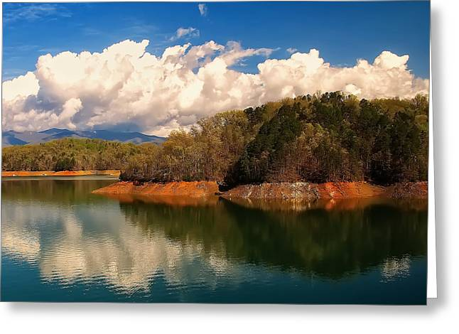 Landscape Posters Digital Greeting Cards - Thunderstorm rolling over the smokies Greeting Card by Chris Flees