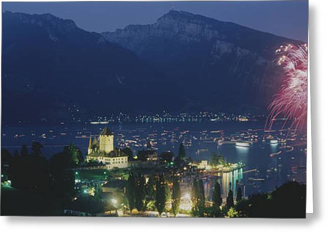 Seen Greeting Cards - Thuner See, Spiez, Switzerland Greeting Card by Panoramic Images