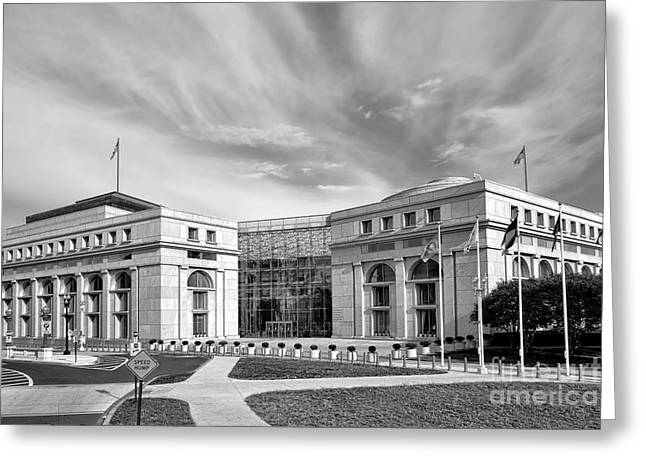 Federal Marshalls Greeting Cards - Thurgood Marshall Federal Judiciary Building Greeting Card by Olivier Le Queinec