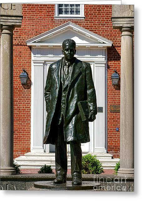 Annapolis Maryland Greeting Cards - Thurgood Marshall Statue Greeting Card by Olivier Le Queinec