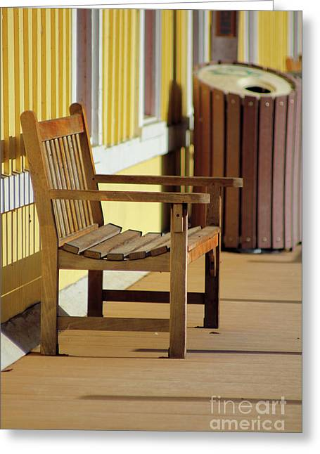 Empty Chairs Photographs Greeting Cards - Thurmond Train Station Greeting Card by Melissa Petrey