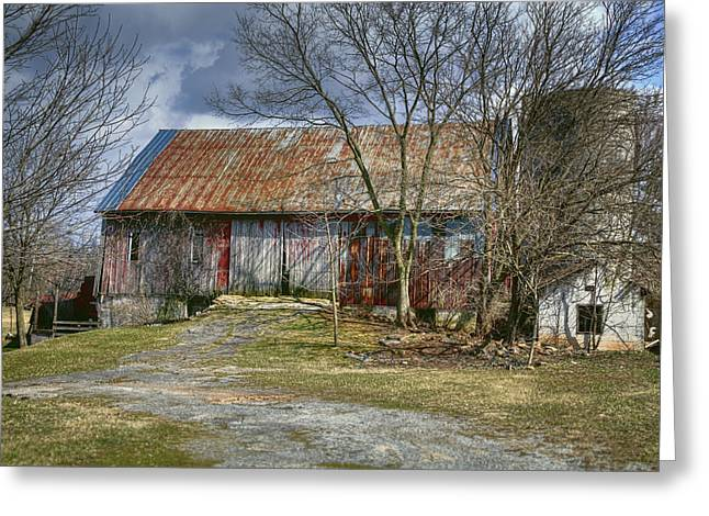 Old Barns Greeting Cards - Thurmont Barn Greeting Card by Joan Carroll