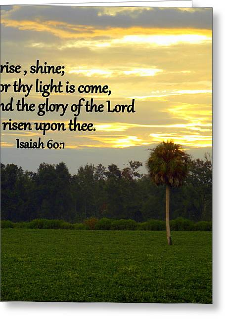 Isaiah Greeting Cards - Thy Light Greeting Card by Sheri McLeroy
