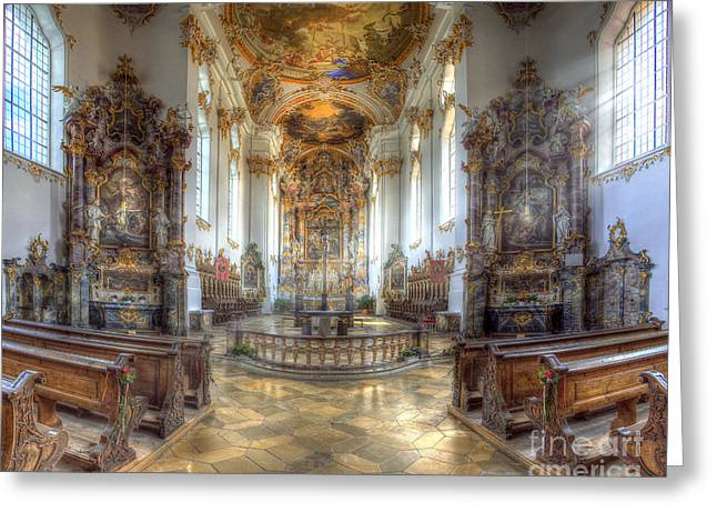 Kloster Greeting Cards - Thy Will Be Done Greeting Card by Edmund Nagele
