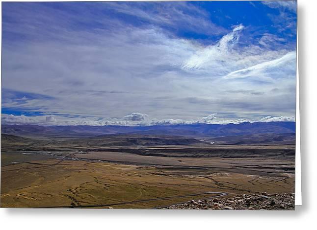 Tibetan Buddhism Greeting Cards - Tibet. Vastness Greeting Card by Kirill Kamionsky