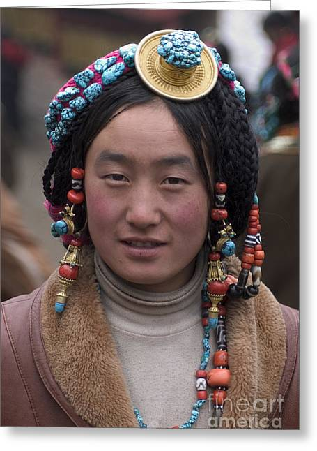 Kham Greeting Cards - Tibetan Beauty - Kham Greeting Card by Craig Lovell