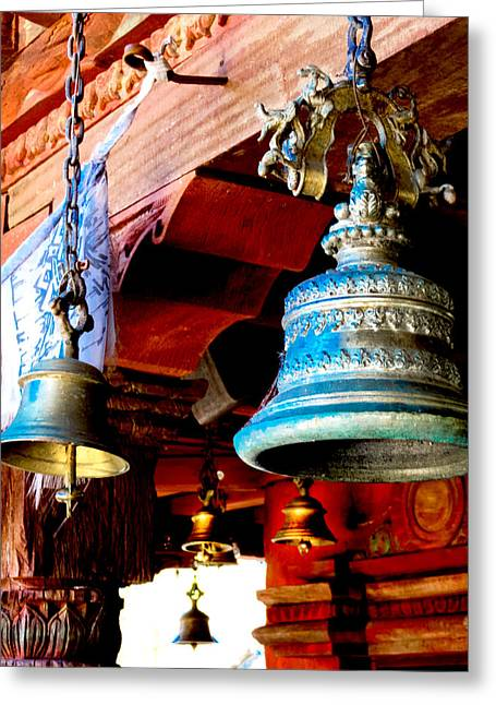 Disney Photographs Greeting Cards - Tibetan Bells Greeting Card by Greg Fortier
