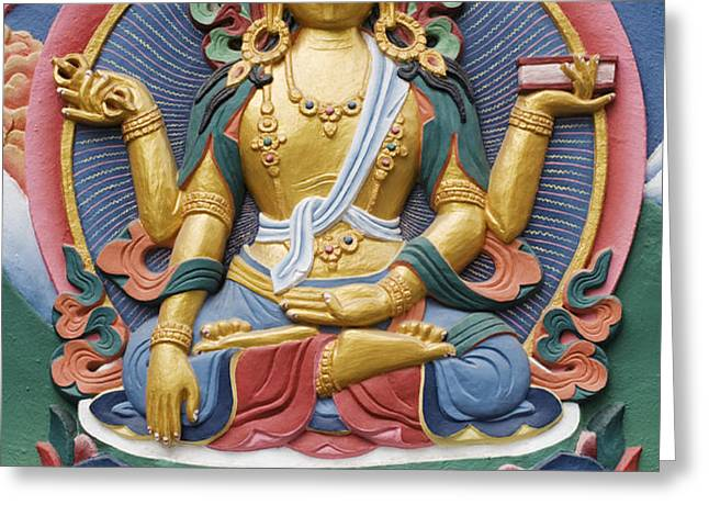 Tibetan buddhist deity Greeting Card by Tim Gainey