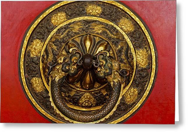 Tibetan Door Knocker Greeting Card by Dutourdumonde Photography