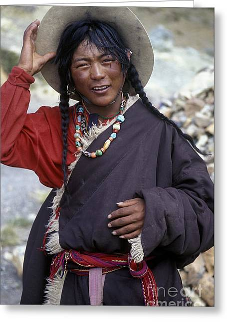 Tibetan Region Greeting Cards - Tibetan Pilgrim - Mt Kailash  Greeting Card by Craig Lovell