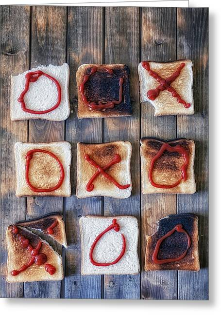 Toast Photographs Greeting Cards - Tic Tac Toe Greeting Card by Joana Kruse