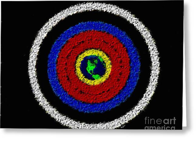 Archery Paintings Greeting Cards - Tic Toc Greeting Card by Sergio B