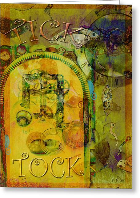Component Digital Greeting Cards - Tick Tock Greeting Card by Fran Riley