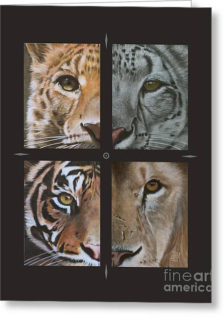 Recently Sold -  - Lions Greeting Cards - Tick tock Greeting Card by Jill Parry