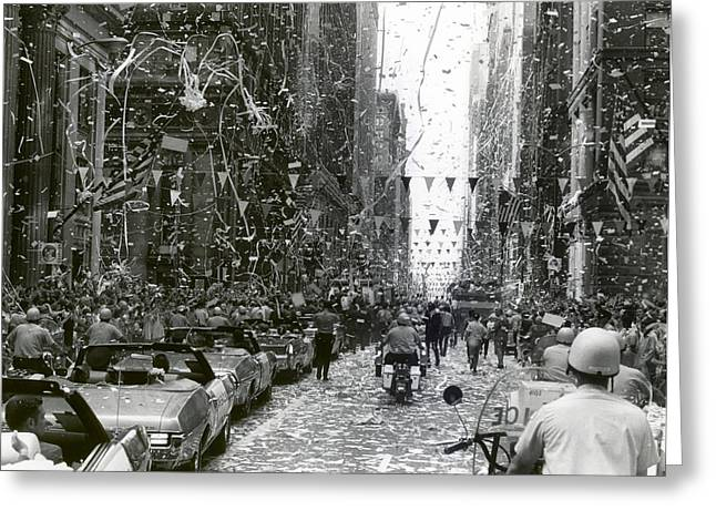 Ticker Tape Parade Greeting Cards - Ticker Tape Parade in Chicago for the Apollo 11 Astronauts  Greeting Card by Mountain Dreams