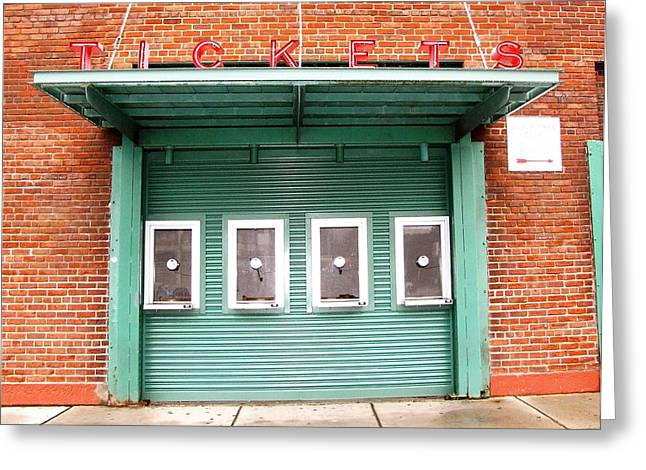 Red Soxs Greeting Cards - Ticket Booth  Greeting Card by Michelle Wiltz