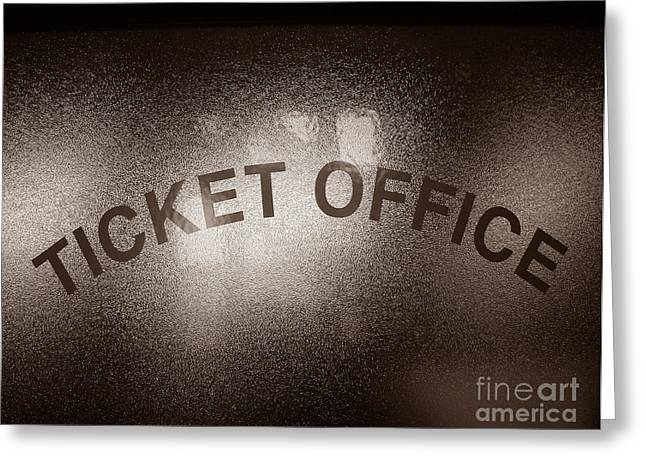 Counter Greeting Cards - Ticket Office Window Greeting Card by Olivier Le Queinec