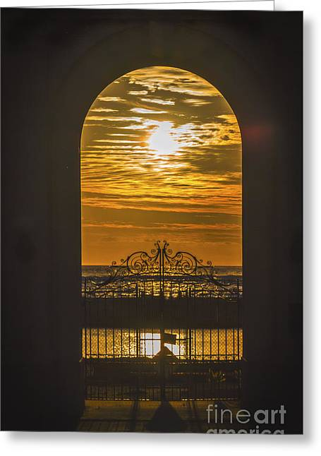 Pearly Gates Greeting Cards - Ticket To Paradise  Greeting Card by Mitch Shindelbower