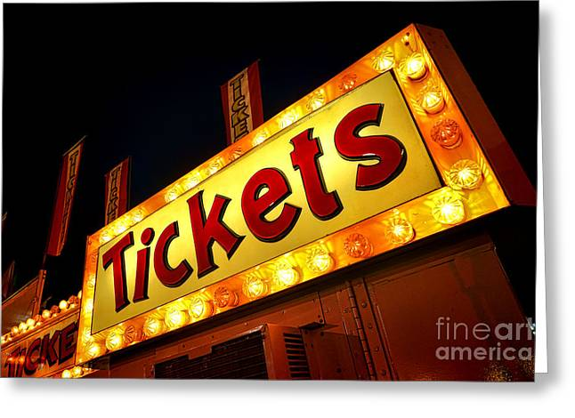 Ticket Booth Greeting Cards - Tickets Greeting Card by Olivier Le Queinec