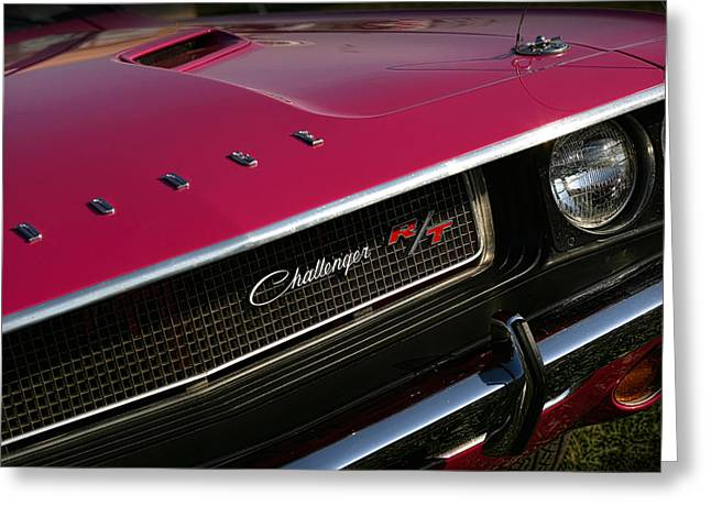 Tickle Greeting Cards - Tickled Pink 1970 Dodge Challenger R/T Greeting Card by Gordon Dean II