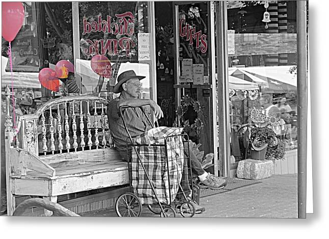 Fair On The Square Greeting Cards - Tickled Pink Greeting Card by Bartz Johnson
