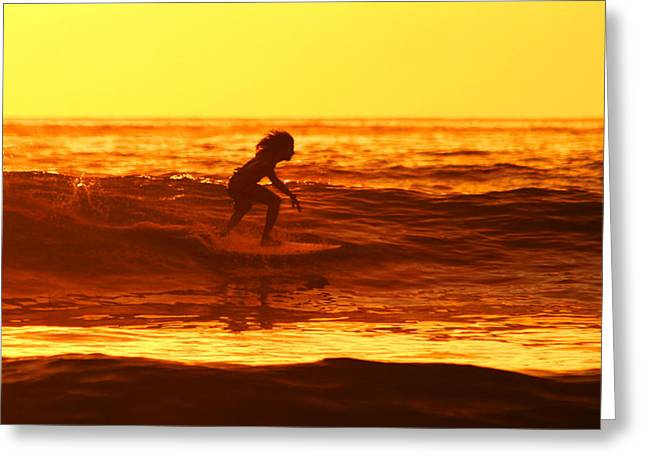 Nathan Miller Greeting Cards - Tico Surfer Greeting Card by Nathan Miller