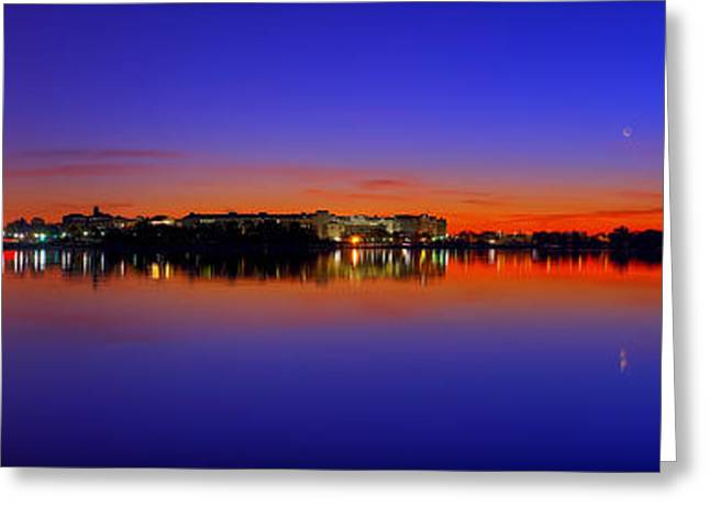 Tidal Photographs Greeting Cards - Tidal Basin Sunrise Greeting Card by Metro DC Photography