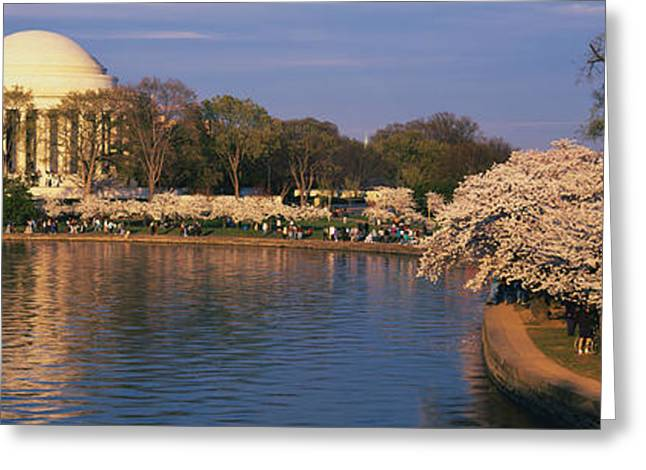 20th Greeting Cards - Tidal Basin Washington Dc Greeting Card by Panoramic Images