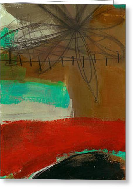 Vertical Paintings Greeting Cards - Tidal Current 3 Greeting Card by Jane Davies