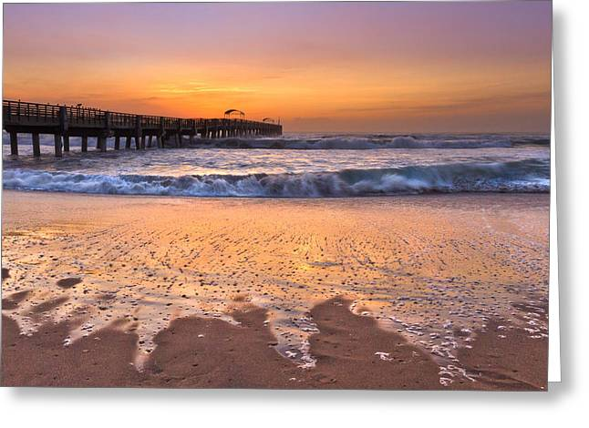 Sea Sports Greeting Cards - Tidal Fingers Greeting Card by Debra and Dave Vanderlaan