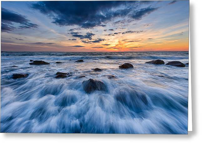 Falmouth Massachusetts Greeting Cards - Tidal Fury Greeting Card by Michael Blanchette