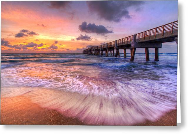 Hobe Sound Greeting Cards - Tidal Lace Greeting Card by Debra and Dave Vanderlaan