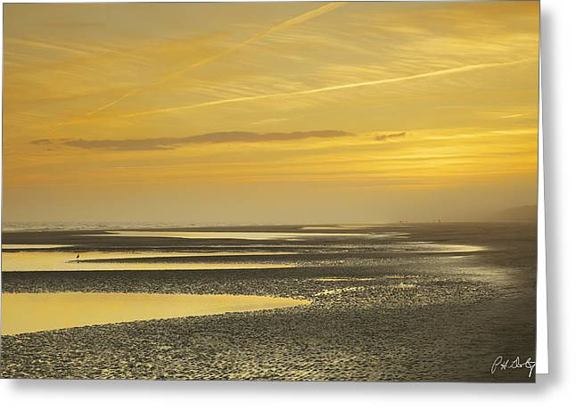 Ocean. Reflection Digital Art Greeting Cards - Tidal Ponds in Fog Greeting Card by Phill  Doherty