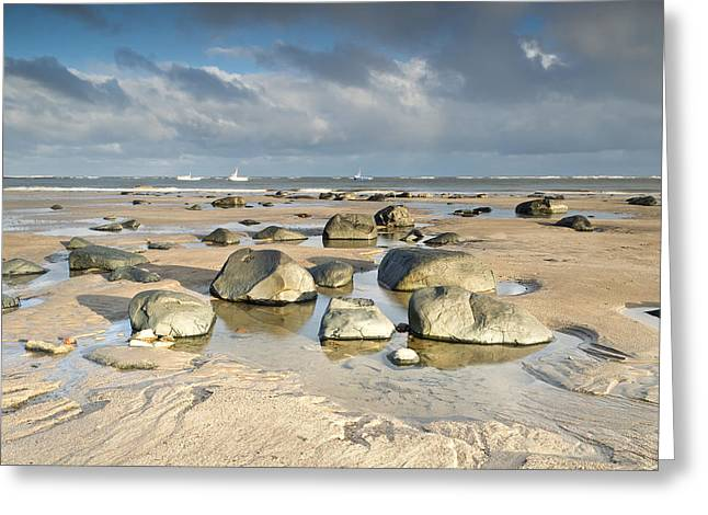 Farne Islands Greeting Cards - Tidal Pool Boulders Greeting Card by Chris Frost