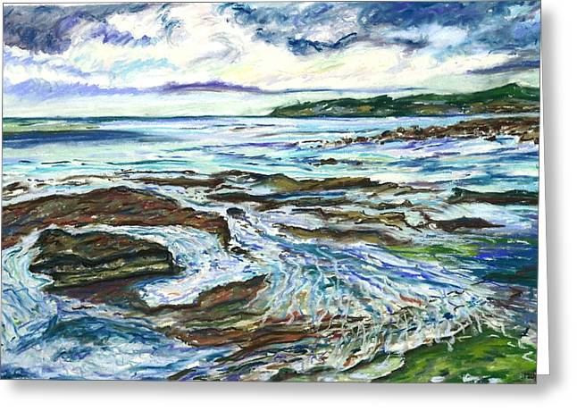 Australia Pastels Greeting Cards - Tidal Pool Greeting Card by Michelle LeBoeuf