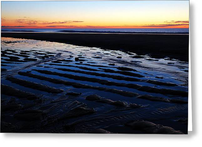 Marconi Beach Greeting Cards - Tidal Ripples at Sunrise Greeting Card by James Kirkikis
