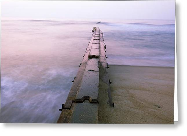 Cape Hatteras Greeting Cards - Tide Break On The Beach At Sunrise Greeting Card by Panoramic Images