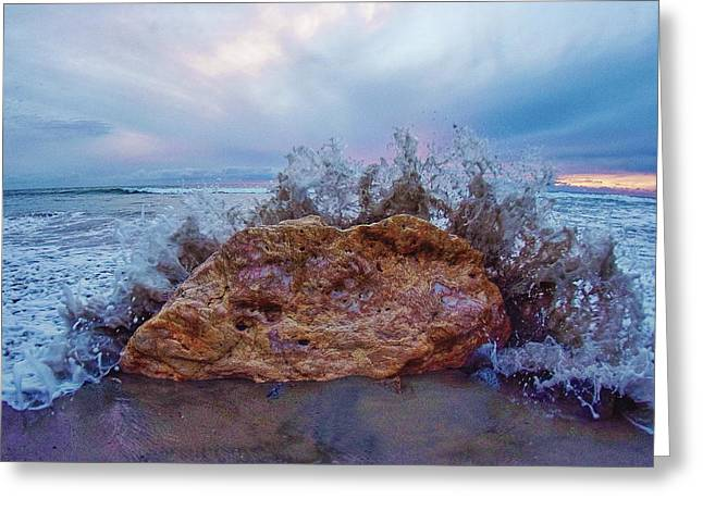 Sunset In San Clemente Greeting Cards - Tide Coming In Greeting Card by Richard Cheski
