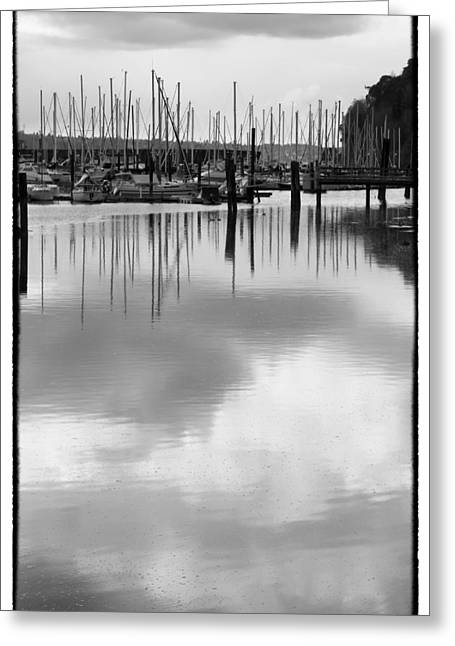 Refection Greeting Cards - Tide Flats Marina Greeting Card by David Patterson