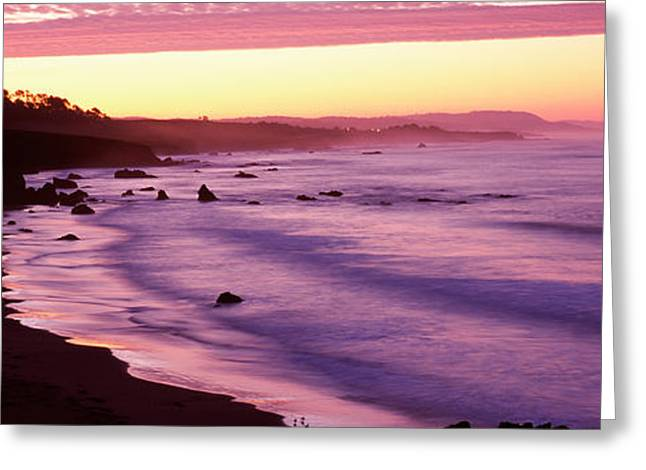 California Beach Greeting Cards - Tide On The Beach, California, Usa Greeting Card by Panoramic Images