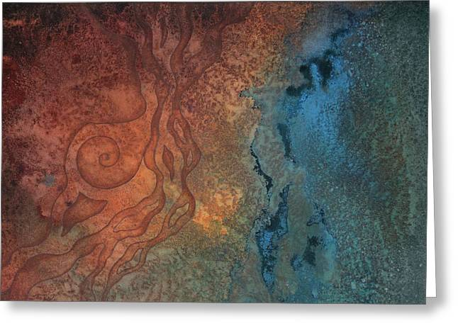 Transformations Paintings Greeting Cards - Tide Pool 2 Greeting Card by Ellen Starr