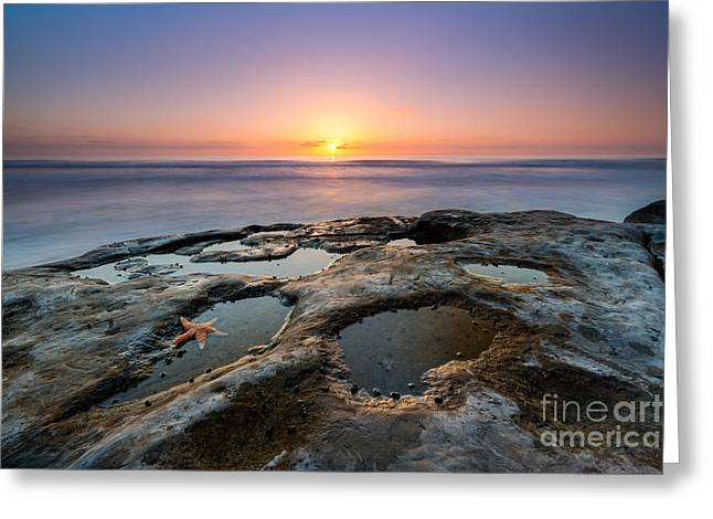 Ver Sprill Photographs Greeting Cards - Tide Pool Sunset Greeting Card by Michael Ver Sprill