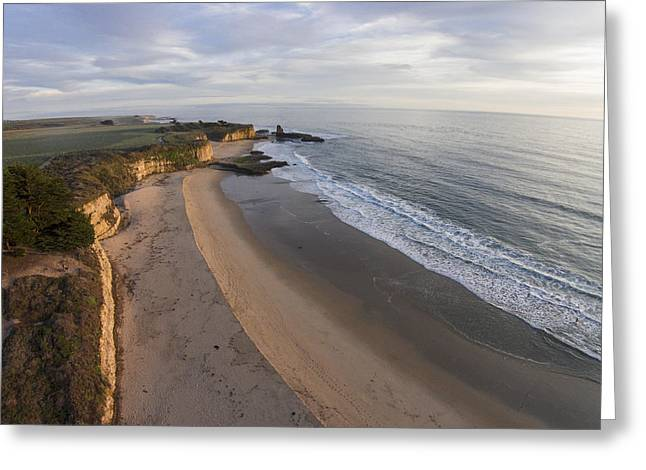 Santa Cruz Surfing Greeting Cards - Tideline at Four Mile Beach Greeting Card by David Levy