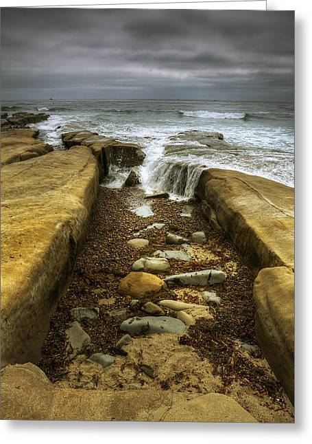 Tide Pools Greeting Cards - Tidepool Falls Greeting Card by Peter Tellone