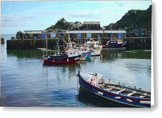 Boats In Harbor Greeting Cards - Tides In Greeting Card by Phyllis Taylor