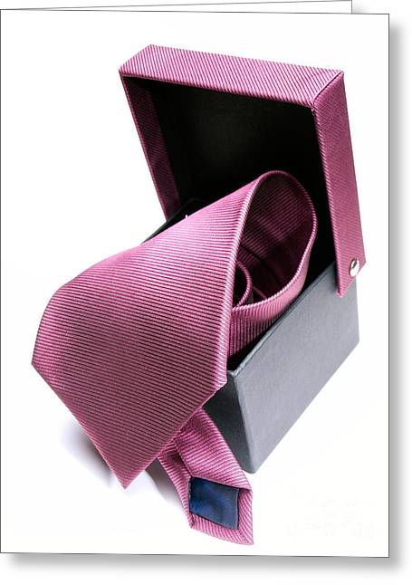 Outfit Greeting Cards - Tie box Greeting Card by Sinisa Botas
